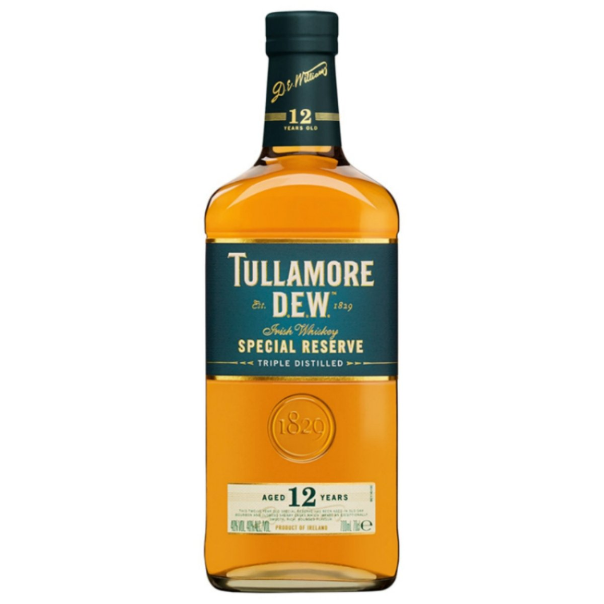 tullamore dew 12 year old irish whiskey 700ml. Black Bedroom Furniture Sets. Home Design Ideas