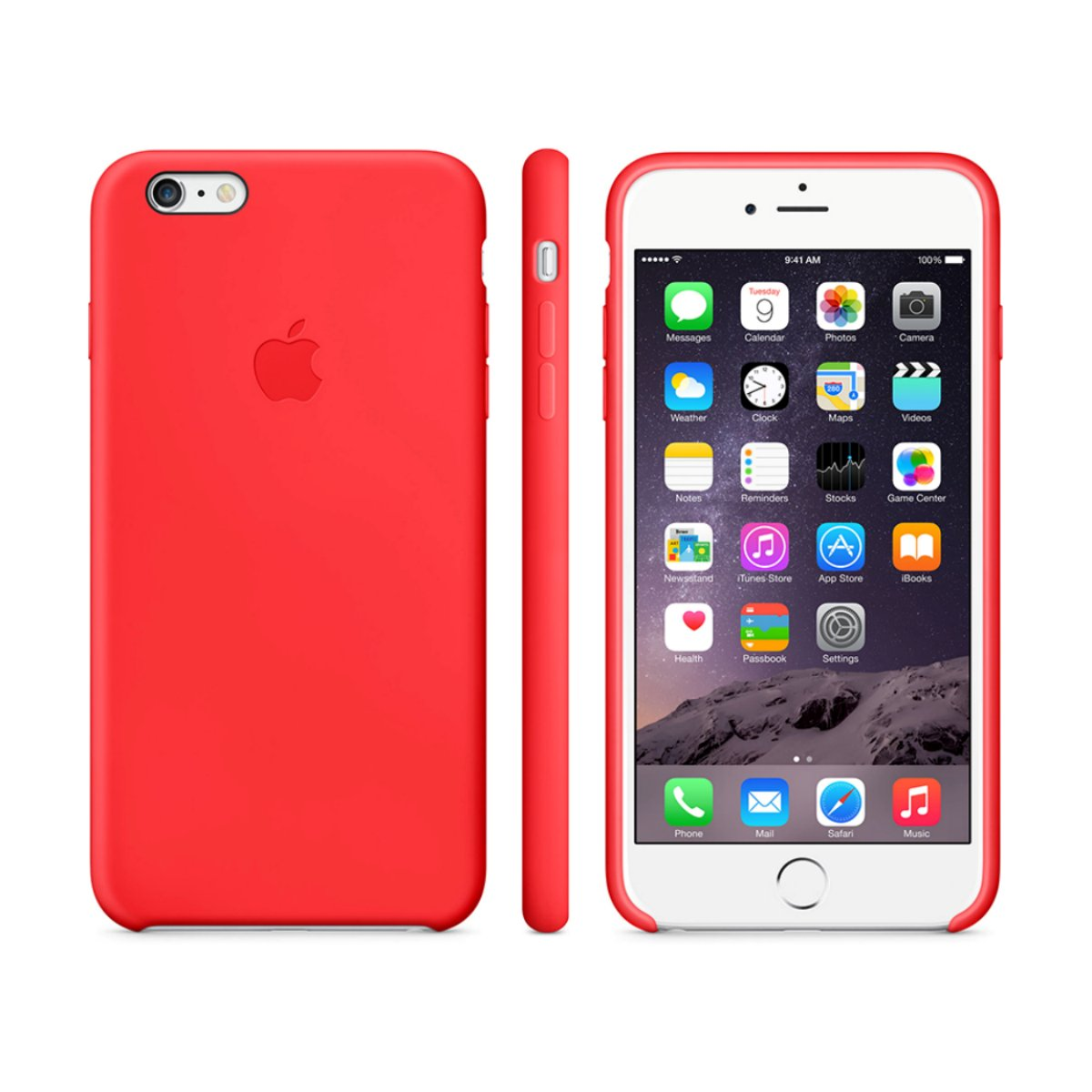 apple iphone 6 plus silicone case red. Black Bedroom Furniture Sets. Home Design Ideas