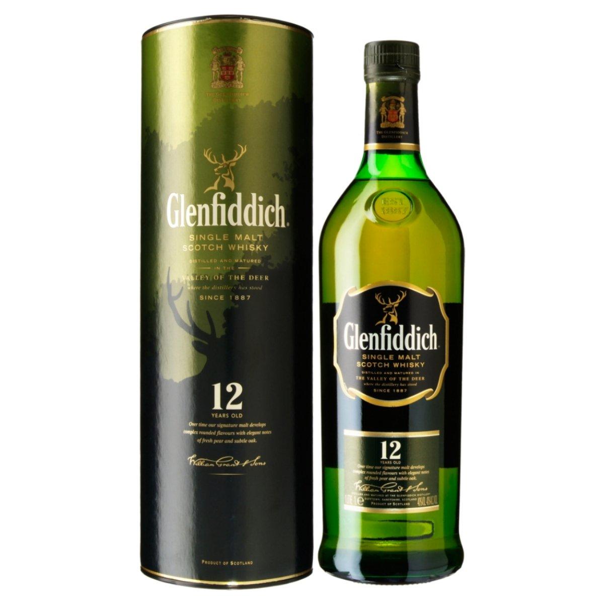 Glenfiddich Single Malt Scotch Whisky 12 Years Old 1l